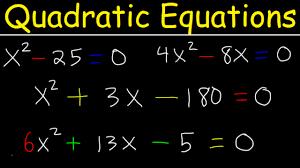 solving quadratic equations by factoring basic examples quadratic formula algebra