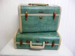 vine samsonite train case makeup travel suitcase seafoam green marbled vine home and travel trailer