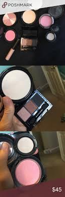 makeup bundle nyx illuminator in ritualistic and eyeshadow trio mac blush in lovecloud eyeshadow in