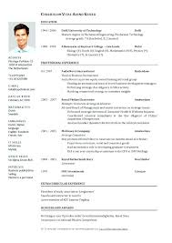 Resume Formats Examples – Eukutak