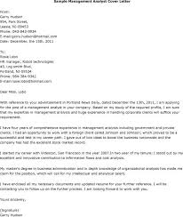 Management Analyst Cover Letter Cover Letter Management Analyst