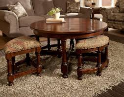 round cocktail table with stools