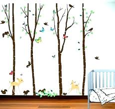 forest wall decals decal with full size of woodland animals