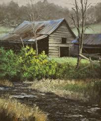 barn on balen creek oil on canvas 24 x20
