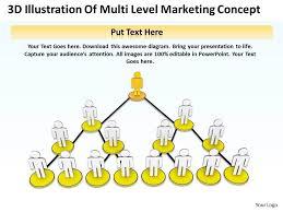 3d Illustration Of Multi Level Marketing Concept Ppt