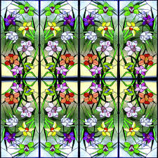solyx sxeg 4848 stained glass flowers made to size