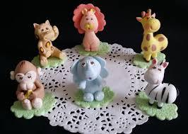 Cake Decorating Animal Figures Safari Cake Topper Etsy