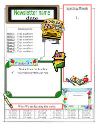 023 Free Microsoft Word Newsletter Templates Back To School