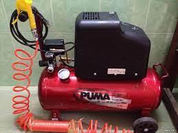 Máy bơm hơi,nén hơi PUMA 30l hàng Japan điện áp 100v ,máy đẹp như mới