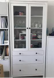 ikea hemnes glass door cabinet with 3