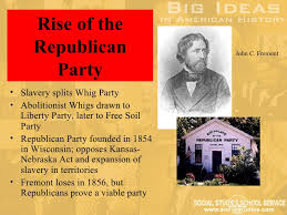 Image result for 1854 Republican Party founded