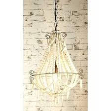small beaded chandelier beaded chandelier small white small wood bead chandelier world market