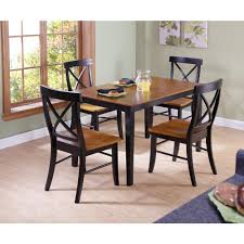 L International Concepts Dining Essentials 5Piece Black And Cherry Solid  Wood Set