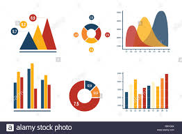Marketing Color Chart Graph And Pie Chart Business Marketing With Harmony Color
