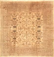 square rugs 6x6 brown hand knotted uk