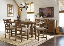 counter height dining table set. Moriville Gray Extendable Counter Height Dining Room Set Table