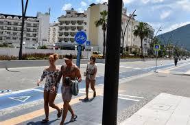 Marmaris sahilleri turistlere kaldı