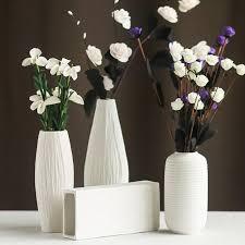 White Ceramic Decorative Accessories Best Modern Minimalist Style Desktop Ceramic Flower Vase European Style