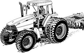 Realistic Tractor Coloring Pages Printable Construction Machine