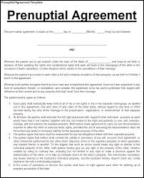 Prenuptial Agreement Template Free Prenuptial Agreement Template