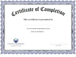 Certification Of Completion Template free templates for certificates of completion Ninja 1