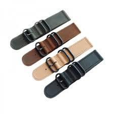 leather zulu strap band pvd ring 18 20 22 24mm
