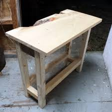 diy end table pre stained