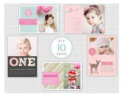10 Psd Kids Birthday Party Invitation Templates Mini Pack