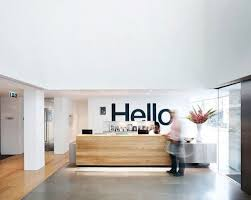 office reception decor. simple and welcoming reception area office decor e