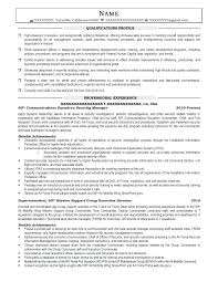 Sample Resume For Quality Manager Military Transition Resume Samples