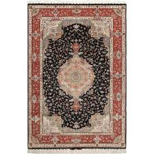 black background vintage tabriz persian rug