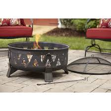 style selections wood burning fire pit