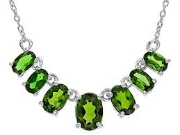 green chrome diopside sterling silver necklace 2 37ctw wos239 jtv com