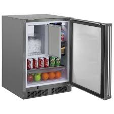 mo24rf marvel outdoor refrigerator freezer shown with optional ice maker