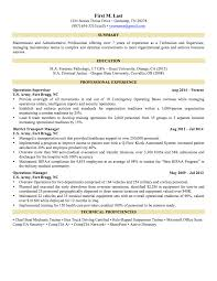 Example Of A Military Resume Examples Of Resumes