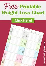 Weight Loss Colouring Chart Printable Free Printable Weight Loss Chart From Freebie Finding Mom
