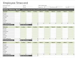 Timecard In Excel Time Sheet