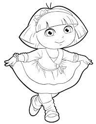 Dora Explorer Coloring Pages Free Printable Avusturyavizesiinfo