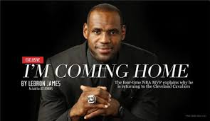 lebron james makes his decision i m coming back to cleveland ny  lebron james reveals his decision via an essay posted on si com writer lee