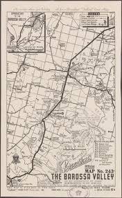 Barossa Valley 1949 Vintage Map Vintage Map By The Chart Map Shop