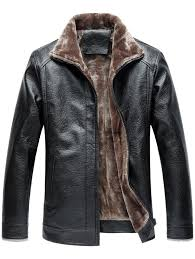 turndown collar zip up fleece faux leather jacket best website to ufayw25913