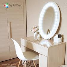 makeup vanity with led lights. crystal vision hollywood style makeup mirror led light kit provided by samsung for cosmetic vanity with led lights