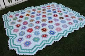 Antique Grandmother's Flower Garden Quilt & The Grandmother of Hexagon Quilts Adamdwight.com
