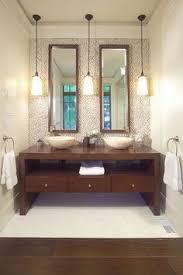 hanging bathroom lighting. Astounding Ideas Pendant Lights For Bathroom Wooden Component Hanging Cabinetary Dark Brown Color Mirrror Lighting T