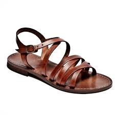 italian leather strappy sandals dark tan italian leather strappy sandals dark tan