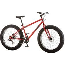26 mongoose hitch men s all terrain fat tire bike red walmart com