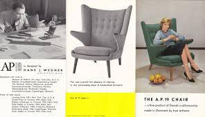 Old Brochures Classic Design Vintage Papa Bear Chair Brochure