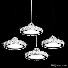modern led round crystal dining room ceiling pendant lights bar counter restaurant pendant lamp study room hallway pendant lamps unusual pendant lights low
