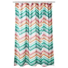 room essentials chevron shower curtain pink green apartment room kid bathrooms and apartments