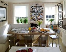 nice open kitchen space with dining room wooden table metal chairs cozy small rooms w54 small